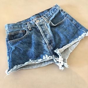 Brandy Melville John Galt High Waisted Cut Offs SM